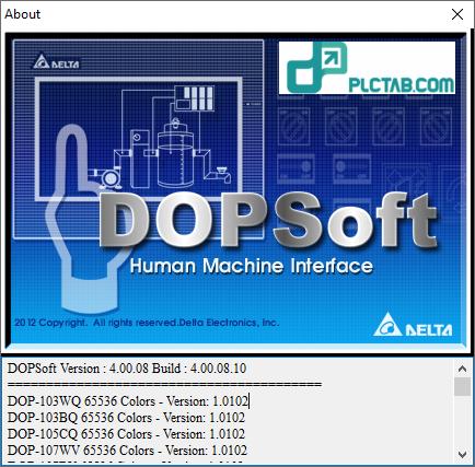 DOPSoft Version4.00.08 Build