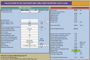 6 Bảng Excell tính toán sụt áp và chọn dây dẫn cho Motor hay các tải khác 22 8 12