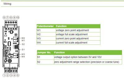 Bộ chuyển đổi tín hiệu đầu cân Loadcell sang analog 4 20mA 0 10V 0 5V RW GT01A 8