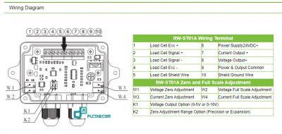 Bộ chuyển đổi tín hiệu đầu cân Loadcell sang analog 4 20mA 0 10V 0 5V RW ST01A 5