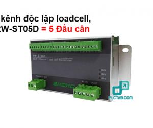 Bo doc 5 kenh Loadcell doc tin hieu mV do chinh xac cao 24bit truyen thong rs485 RW ST05D dau can 5 kenh