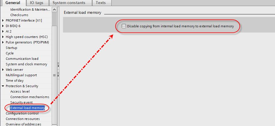 load memory